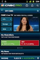 Screenshot of CNBC PRO for Phones