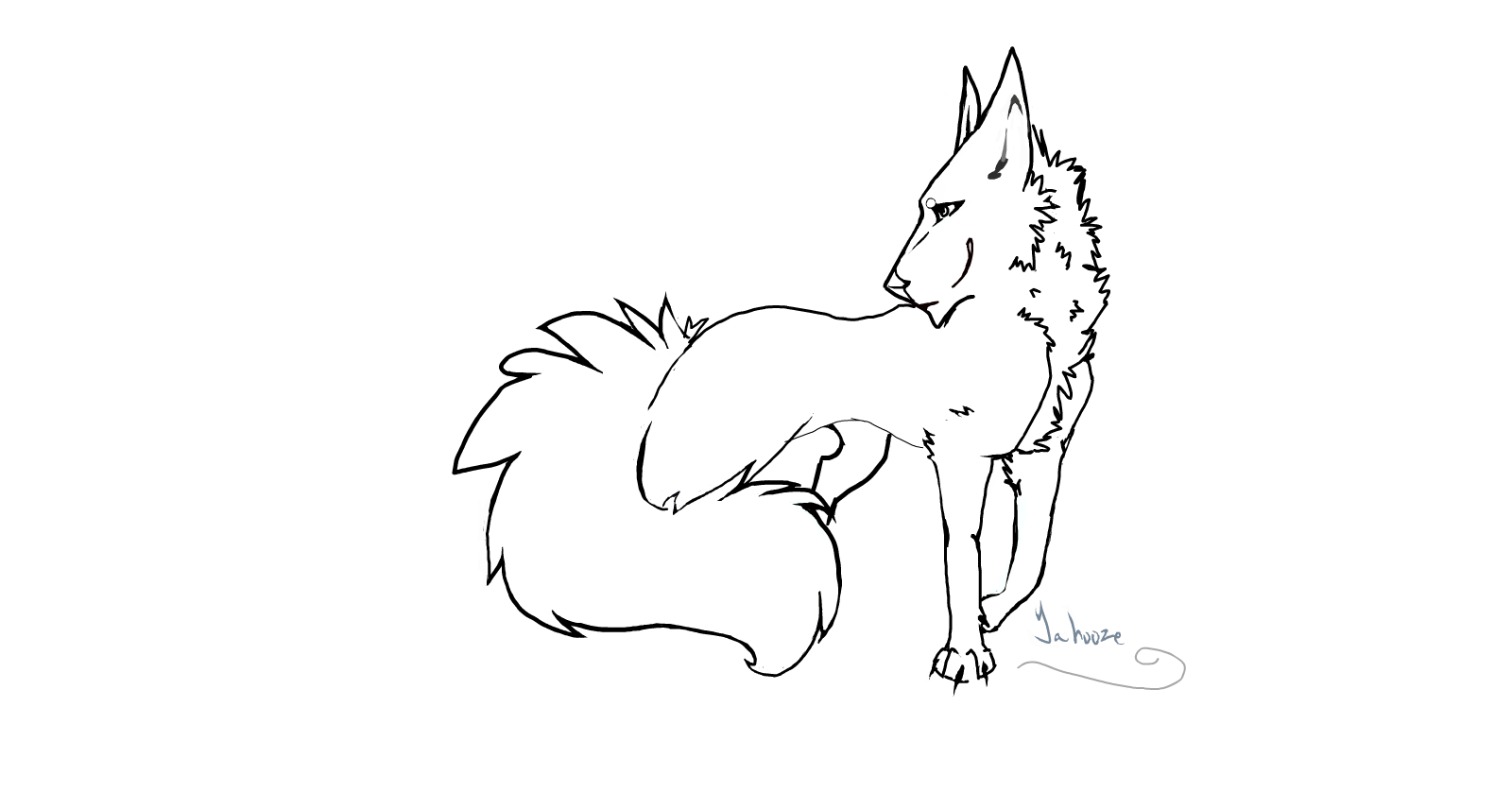 Fox/wolf lineart thingy