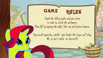 Screenshot of My Little Pony Apple Game