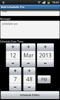 Screenshot of Mail-Scheduler Pro