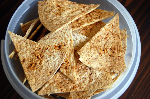 Baked wheat tortilla chips playing for What can i make with tortilla chips