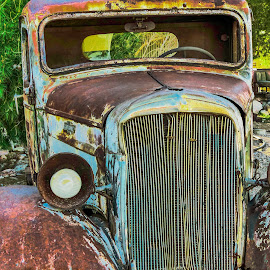 One Eyed Old  by Nancy Young - Transportation Automobiles ( transporation, 2013, truck, automobile, nevada, ghost town, nelson )