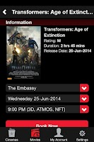 Screenshot of Event Cinemas NZ