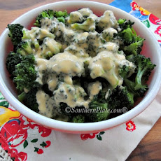 Broccoli with Homemade Cheese Sauce