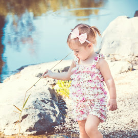 Lola at the Pond by Jenny Hammer - Babies & Children Children Candids ( water, girl, beauty, baby, cute )