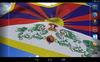 Screenshot of 3D Tibet Flag Live Wallpaper