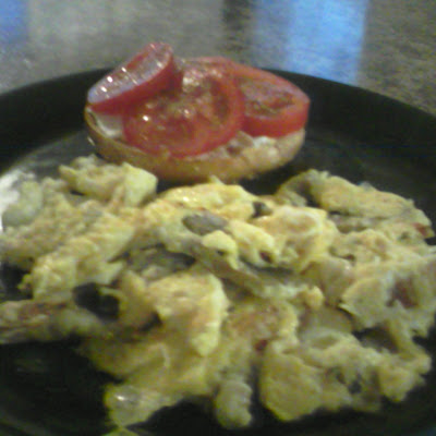Mushroomie Scrambled Eggs