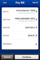 Screenshot of BOH Mobile Banking