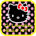 Go Launcher Hello Kitty Black