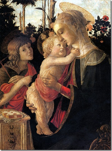 Alessandro FILIPEPI dit BOTTICELLI - La Vierge et l'Enfant avec le jeune saint Jean-Baptiste