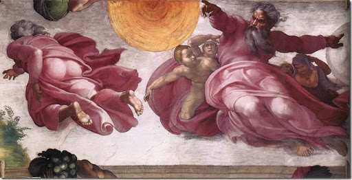 MICHELANGELO - Creation of the Sun, Moon, and Plants