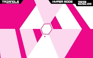 Screenshot of Super Hexagon