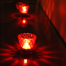 let there be light ! :) by Prerna Gupta - Artistic Objects Glass ( red, pattern, artistic, glass, light )