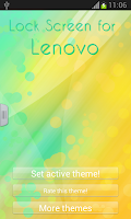 Screenshot of Lock Screen for Lenovo
