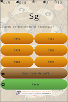 Screenshot of iQuiz chemical elements