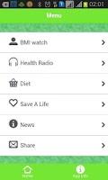 Screenshot of Health Information