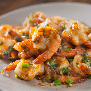 Garlic Ginger Shrimp Stir fry