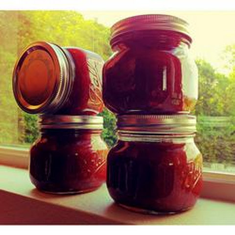 Apple Rhubarb Conserve With Almonds And Apricots Recipe — Dishmaps