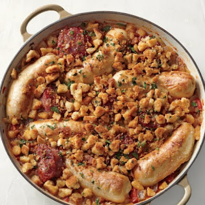 Pork Sausages and White Beans