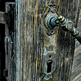 150 Year old oak door, lock still works. by Željko Salai - Novices Only Objects & Still Life