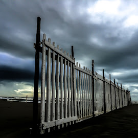 Barriers by Cesare Riccardi - Buildings & Architecture Other Exteriors ( barriers, sky, sea, beach, landscapes )