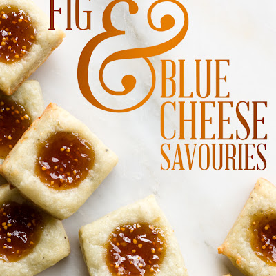 Day 19, Fig & Blue Cheese Savouries