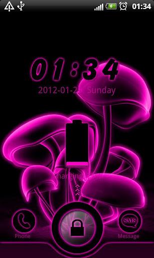 Pink Neon GO Locker theme