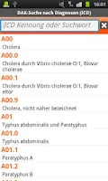 Screenshot of DAK-Diagnosensuche ICD 2011