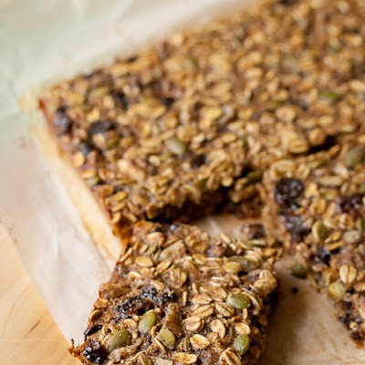 Cherry-Walnut Oatmeal Breakfast Bars