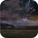 Farm in Thunderstorm Wallpaper
