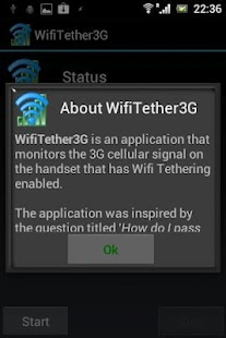 WifiTether3G - screenshot