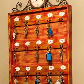 Key Holder by Danie Grundling - Artistic Objects Furniture ( hanging, decor, clock, keys, board )