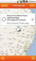 Screenshot of Fires Near Me NSW