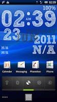 Screenshot of EZ Clock Wallpaper Pro