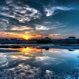 Cooden Beach by Ian Morgan - Landscapes Sunsets & Sunrises
