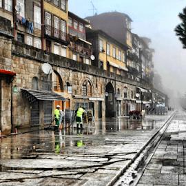 Ribeira Street by Antonio Amen - City,  Street & Park  Street Scenes