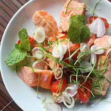 Thai Herbal Salmon Salad (Phla Pla Salmon)