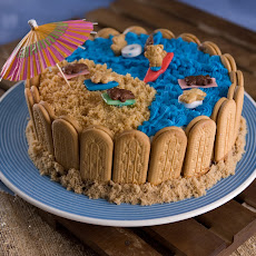 Day at the Beach Ice Cream Cake