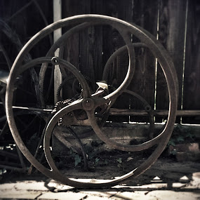 Antique Water Well Iron Wheel by Nat Bolfan-Stosic - Buildings & Architecture Other Exteriors ( water, wheel, well, iron )