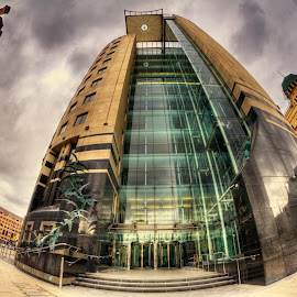 No.1 City Square by Simon Pickles - Buildings & Architecture Office Buildings & Hotels ( cs6, samyang, leeds, fisheye, hdr, photomatix, architecture, caon, city, urban, colour fx, 7d, 8mm )
