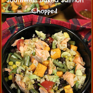 Southwest Baked Salmon Chopped