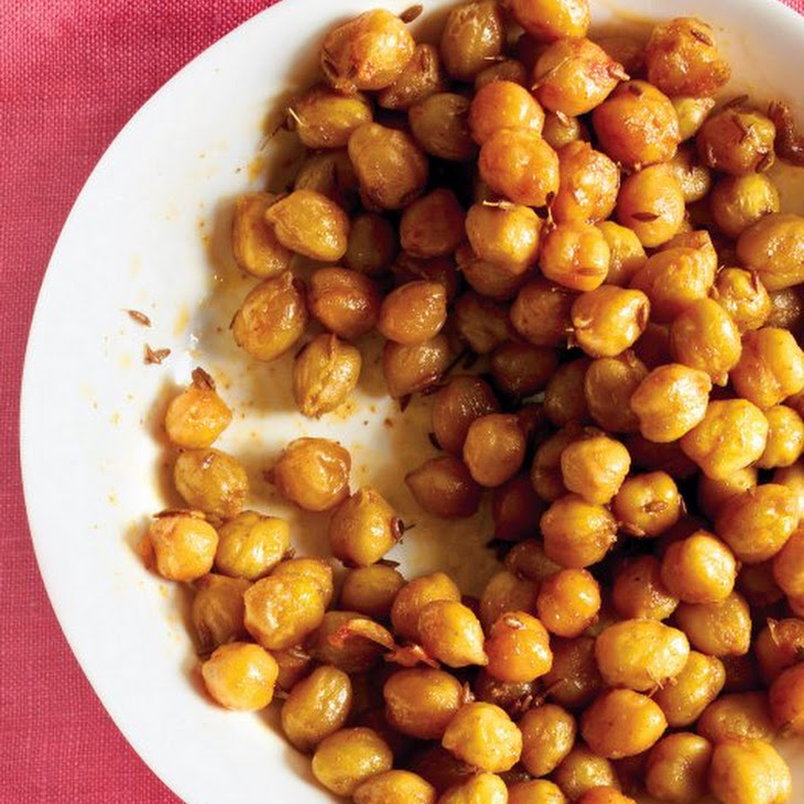Spicy Roasted Chickpeas Recipe | Yummly