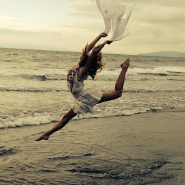 Pura Vida by Lili Hurst - Uncategorized All Uncategorized ( water, sky, ocean, beauty, beach, dancer )