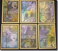 5 Lynn Roberts Hotel Stamp ATCs 1