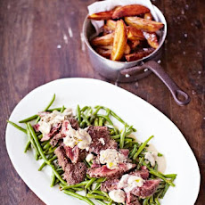 Secret Steak & Chips, Garlicky Green Beans