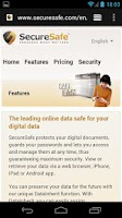 Screenshot of SecureSafe Digital Vault