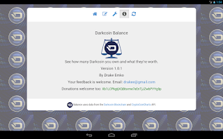 Screenshot of Darkcoin Balance