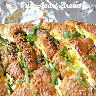 2 Cheeses, Garlic and Onion Pull-Apart Bread