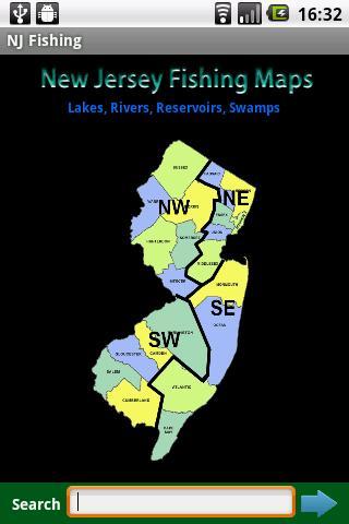 New Jersey Fishing Maps - 4000