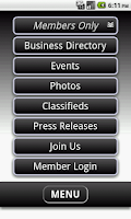 Screenshot of Decorah Area Chamber